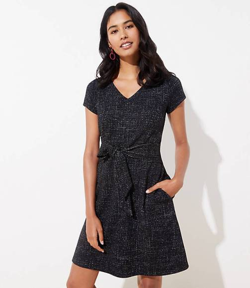 shimmer-tweed-tie-waist-dress