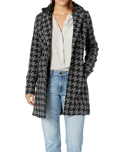 Screenshot_2019-11-19 Amazon com Yoki Women's Single Breast Houndstooth Long Wool Jacket, Black Grey, Medium Clothing