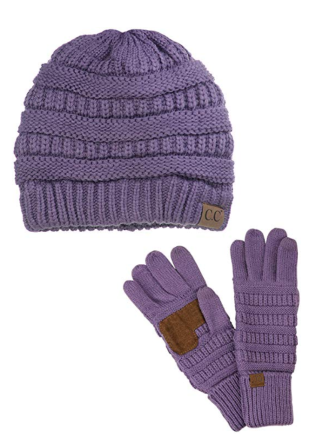 Screenshot_2019-11-22 C C Unisex Soft Stretch Cable Knit Beanie and Anti-Slip Touchscreen Gloves 2 Pc Set, Violet at Amazon[...](1)