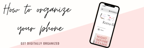 How to organize your phone